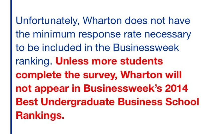 Email Sent To Whartonites Confirms Everything We Knew About Wharton