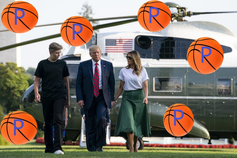 SPORTS REPORT: Penn Basketball Already Recruiting 6-Foot-6-Inch Forward Barron Trump