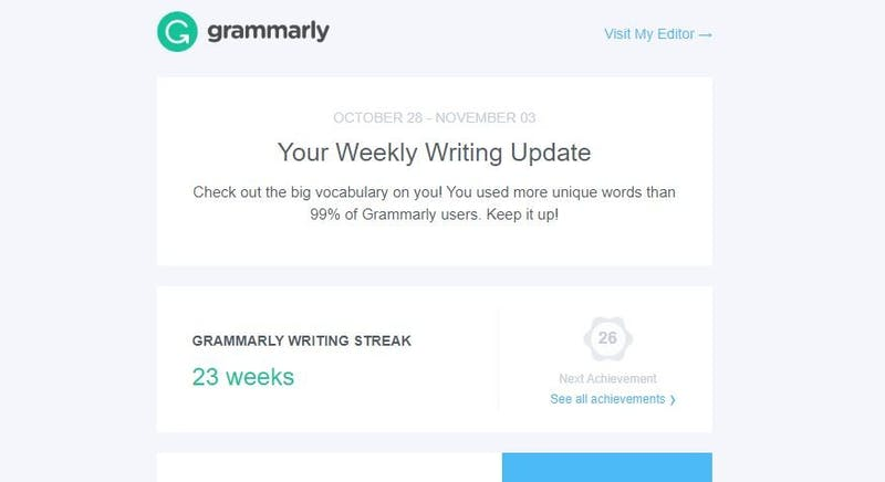 Resume Worthy! Sarah Used More Unique Words Last Week Than 99% of Grammarly Users