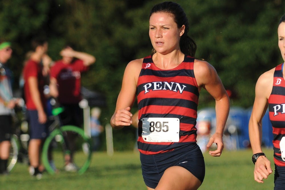 Senior Ashley Montgomery is a big part of the Quakers' strong start and placement in the rankings. Montgomery has finished first in both of Penn's meets so far this year.