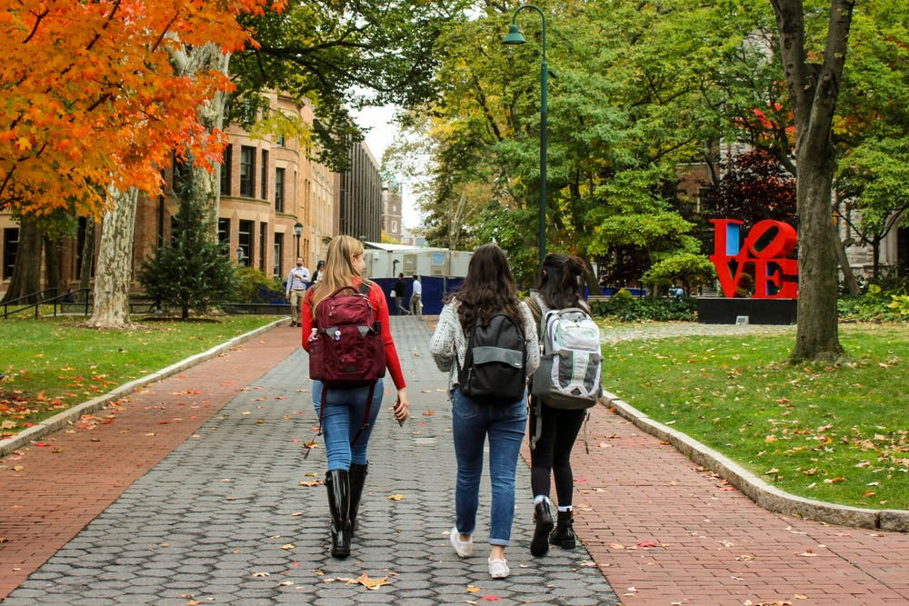 fall-campus-students-love-statue