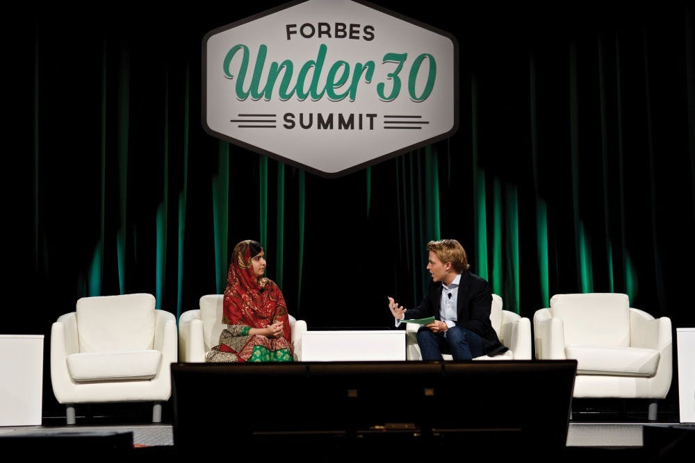 Last year's Forbes 30 under 30 Summit featured Malala Yousafzai and other high-profile winners. This year's winner will be awarded $1 million.