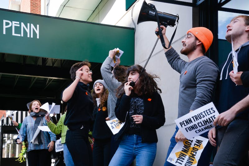 Photo Essay | The Fossil Free Penn protest that shut down Board of Trustees meeting