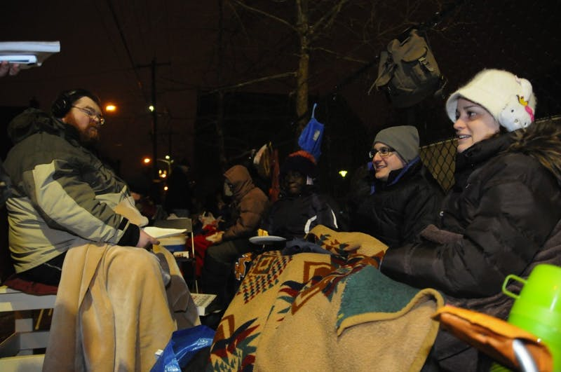 Local Residents Camp Out at Penn Alexander