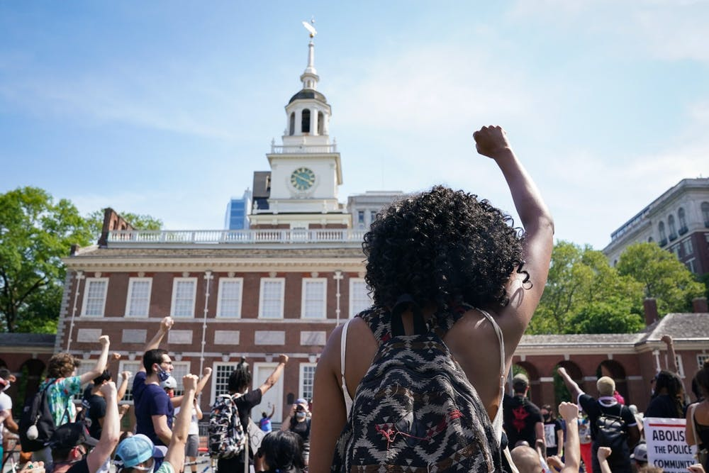 06-04-20-philadelphia-philly-george-floyd-black-lives-matter-blm-protest-independence-hall-fist-chase-sutton