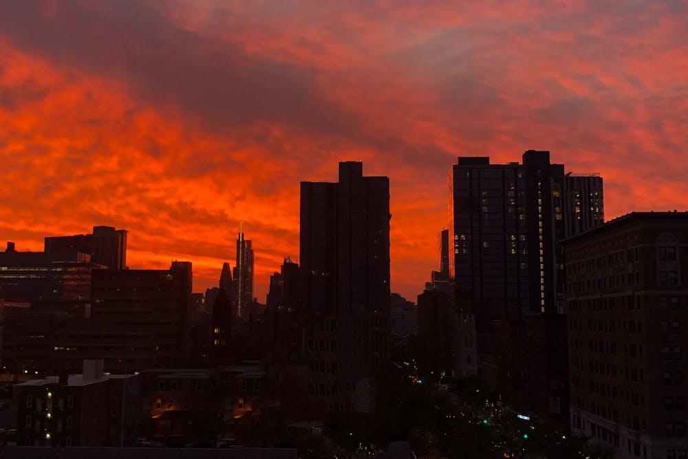 sunrise-philadelphia-skyline