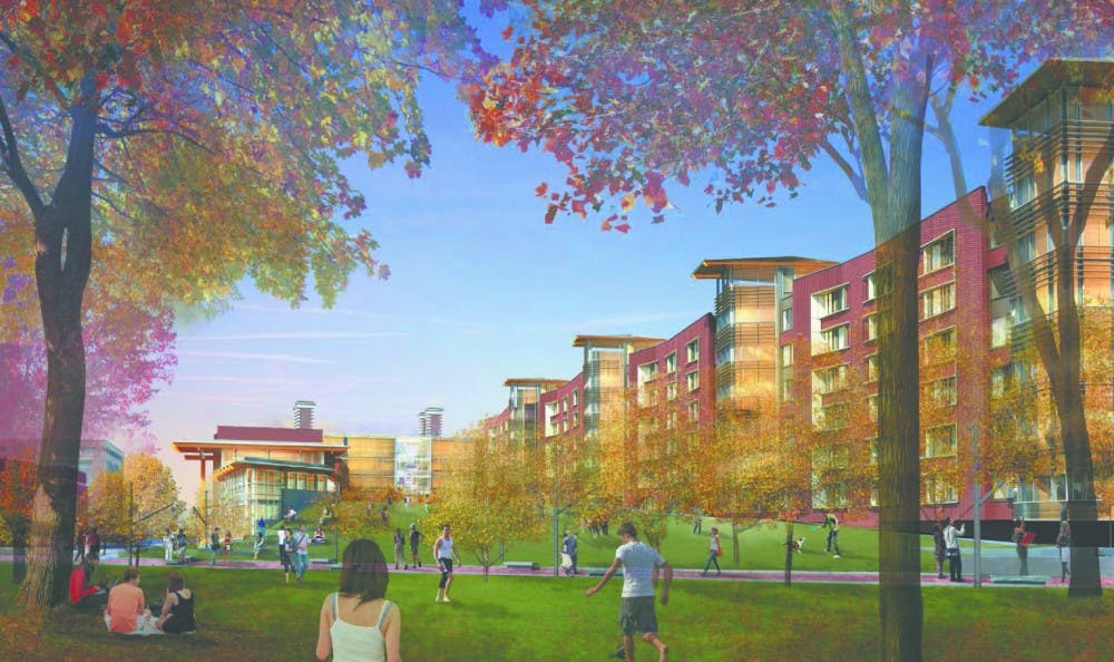 The new college house on Hill Field is slated to open in 2016.