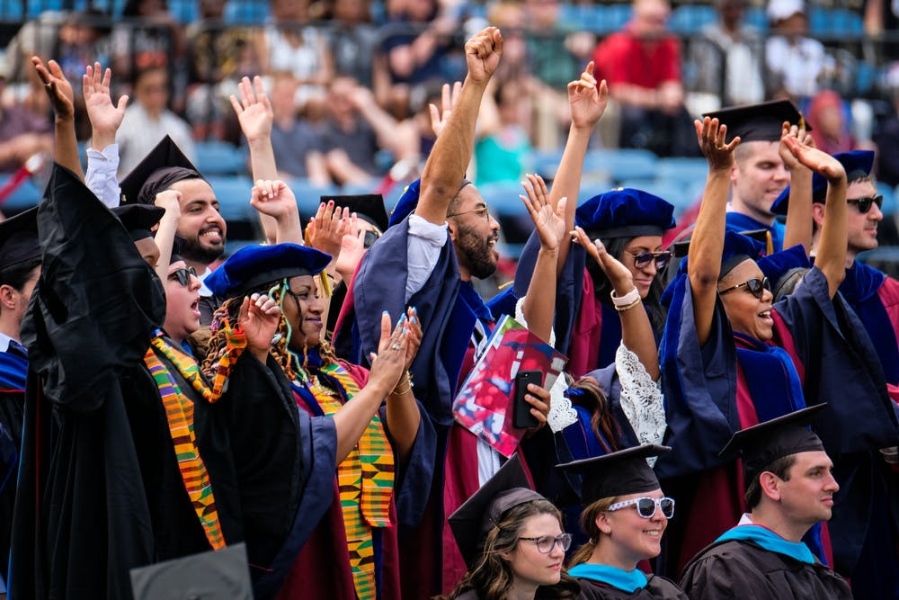 commencement-2019-students-clapping-cheering