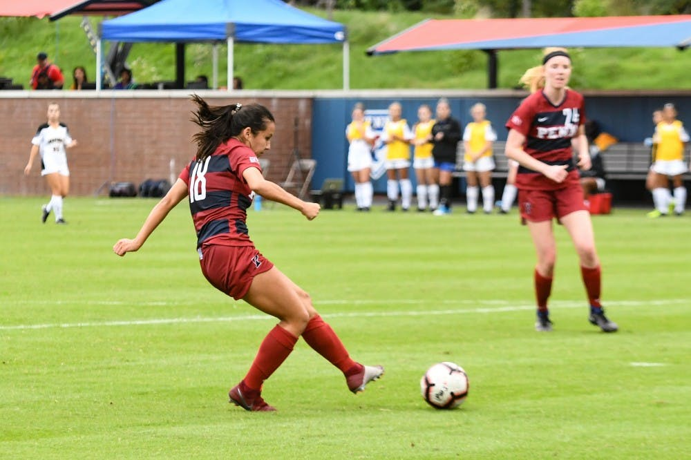 Penn women s soccer continues hot play with wins over UMBC 6e9590dda