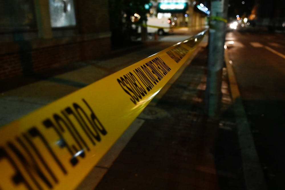 police-tape-line-do-not-cross-crime-log-penn-dental-medicine-40th-street-night