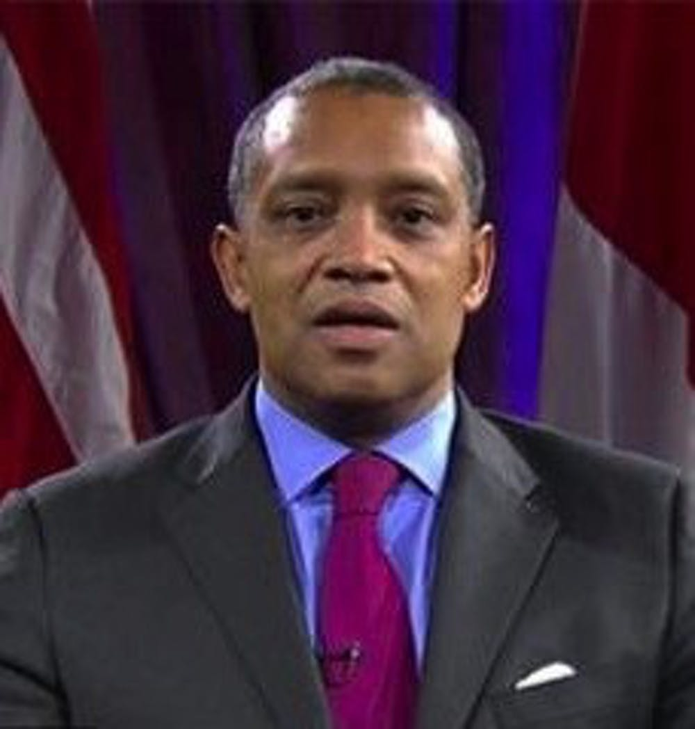 <p>After starring for Penn men's basketball in the 1980s, <strong>Karl Racine </strong>went on to the University of Virginia School of Law before being&nbsp;elected as Attorney General for the District of Columbia in 2015.</p>