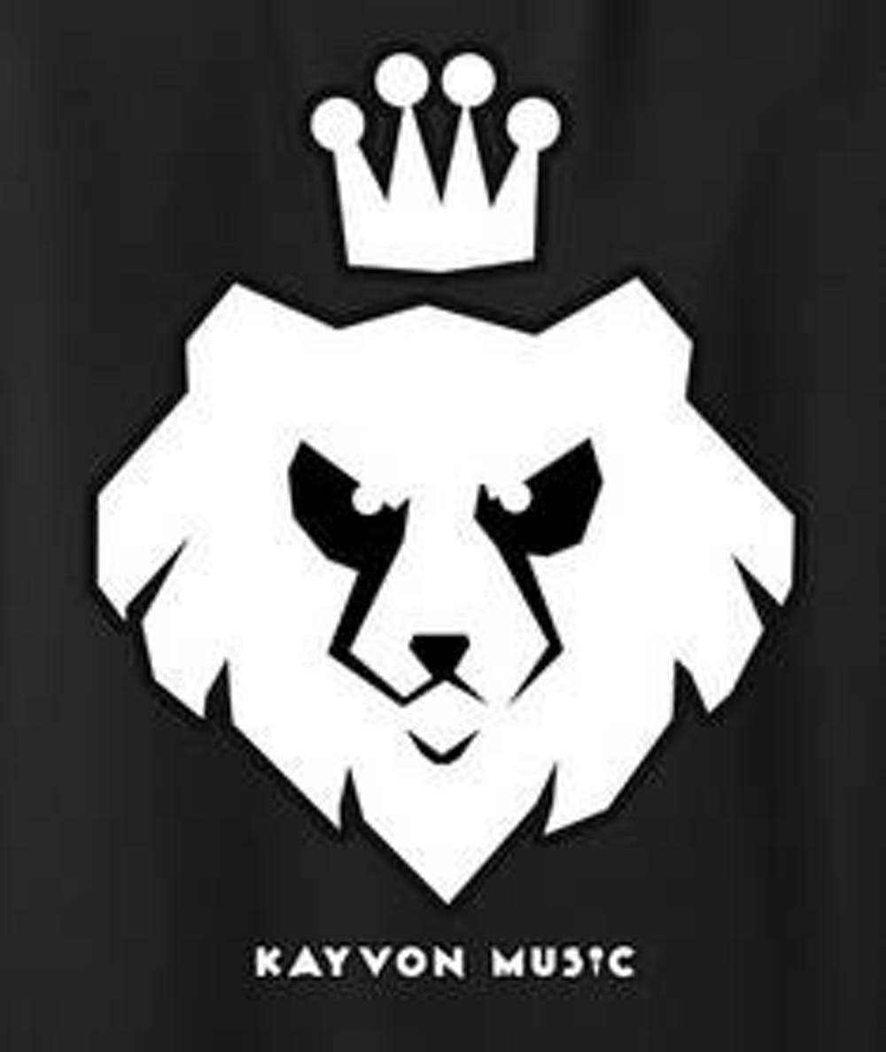 KayvonAsemanisupports his business by selling T-shirts with his logo, designed byCollege freshmanAdam Ried.