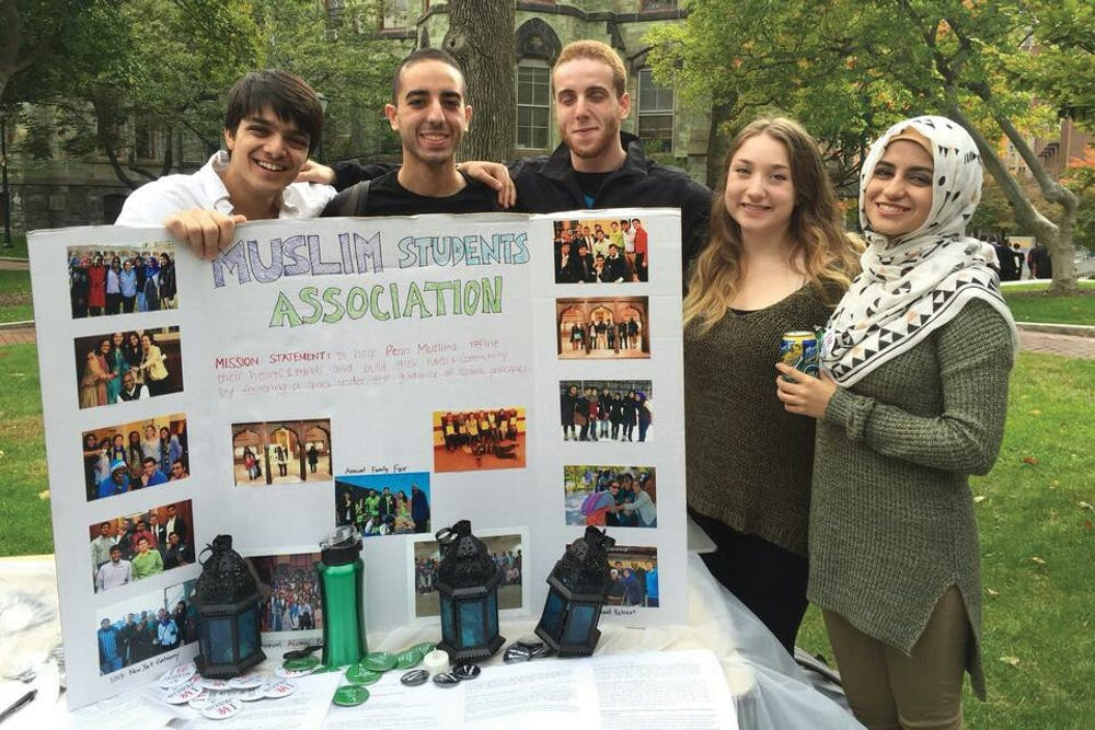 """Penn students had the opportunity to""""Meet a Muslim"""" on Locust Walk as part of the Muslim Student Association's"""