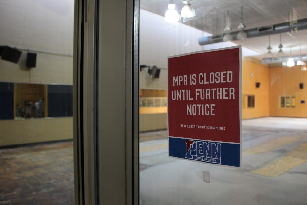 The MPR at Pottruck, which contains a variety of exercise equipment, has been closed since the beginning of this semester.