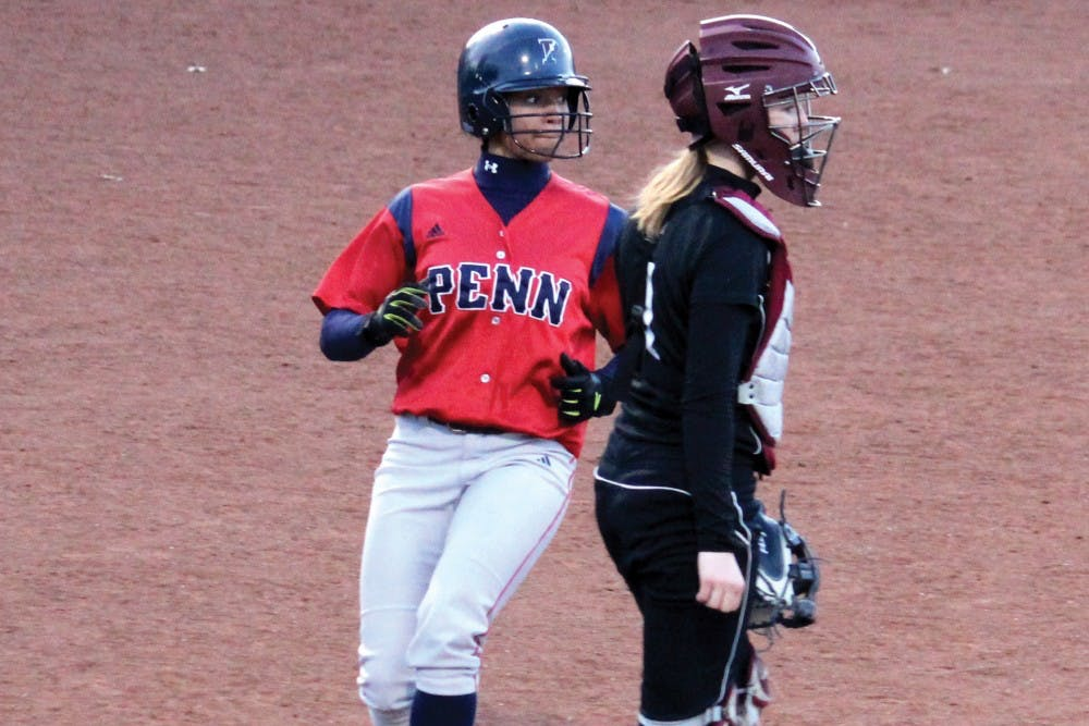 Sophomore outfielder Leah Allen has been a menace on the basepaths for the Quakers in 2015, leading the team with 12 stolen bases.