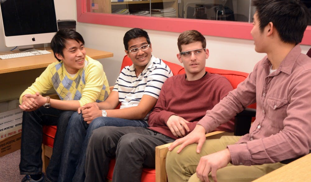 Engineering freshmen David Ongchoco, Rajat Bhageria, and Ben Sandler created an app for Google Glass that would help the blind