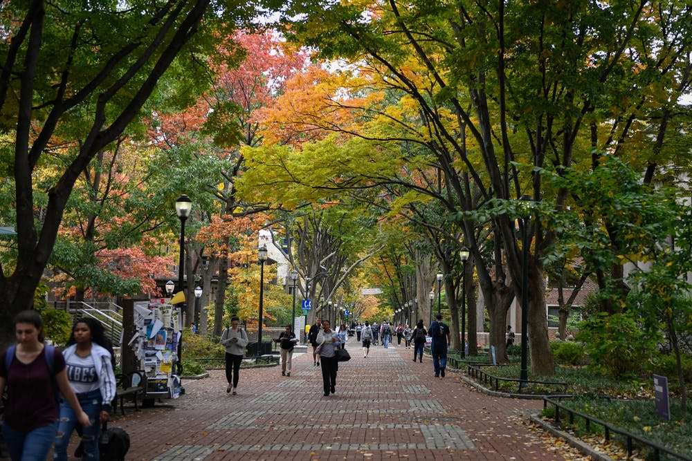 locust-walk-fall-campus