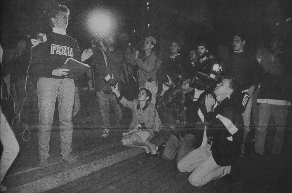On Sept. 26, 1996, then-Chief of Police Operations Maureen Rush talked to angry students and local media on College Green days after a College senior was shot in the thigh.