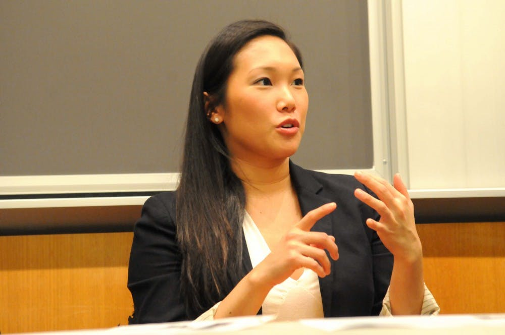 PennSEM (Penn Social Entrepreneurship Mentoring Program) hosts a career panel with 6 Penn alum who are now working in social entrepreneurship: Mark Chou (W'09) -- NYC Investment Fund; Garbiel Mandujano (W'05, C'05), Founder of Wash Cycle Laundry; Elaine Chou (MBA '13), Co-President of Wharton Social Venture Fund; Rebecca Asher (C'12), Services Associate at B Lab; Charlie Javice (W'14), Founder of PoverUp; and Matt Joyce, Executive Director of Greenlight Philadelphia.