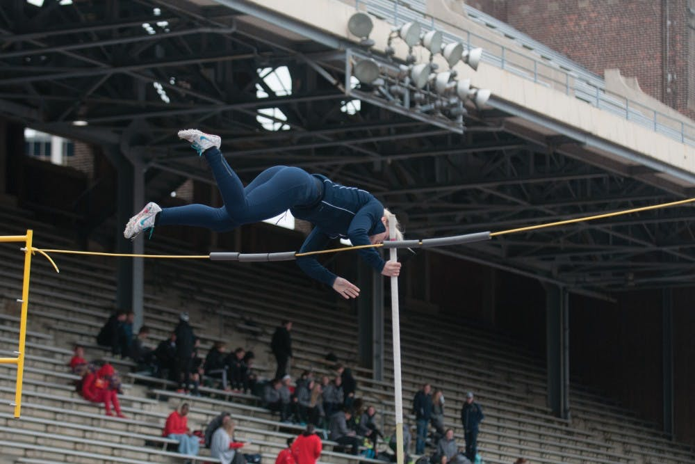 As a member of the Penn track and field team, freshman pole vaulter Nicole Macco is one of many spring athletes that will have to balance competition and finals in the final stretch of the year.