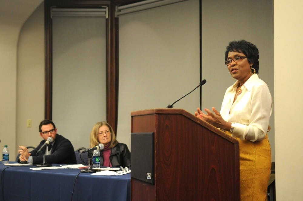Graduate School of Education professor Vivian Gadsden speaks at an education reform panel co-hosted by GSE and the Penn Institute for Urban Research.