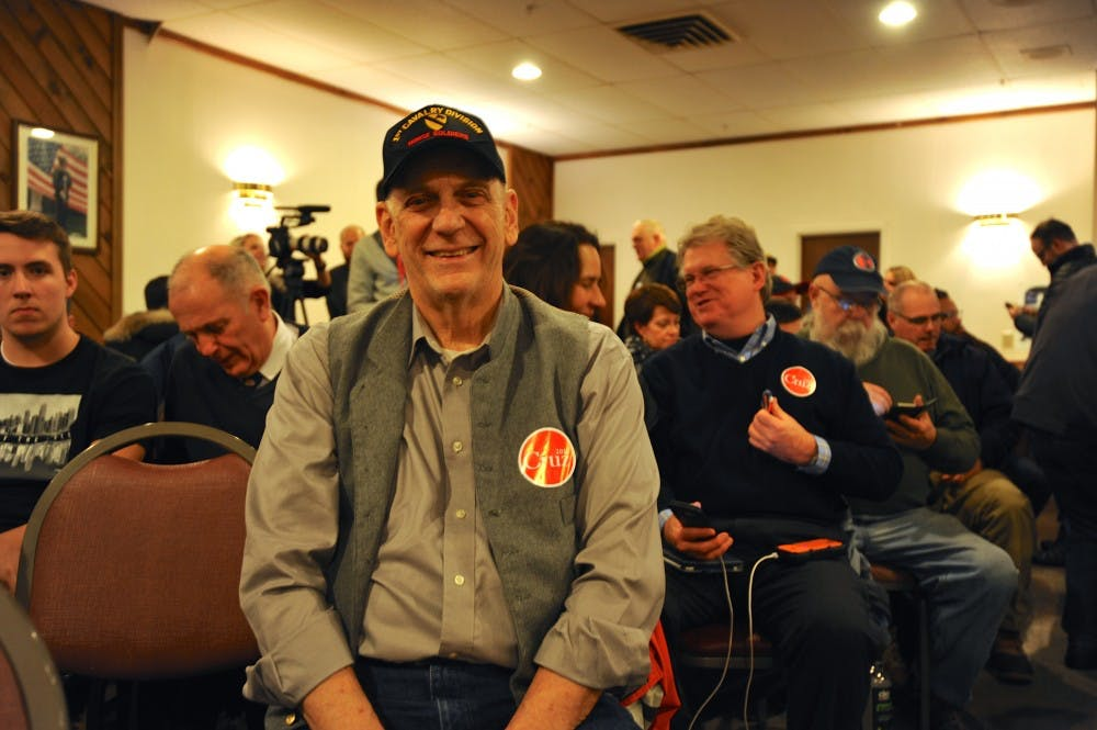 Dennis Williams was a Donald Trump supporter until yesterday. Today he came to listen to Sen. Ted Cruz (R-Texas) speak in Manchester, NH.