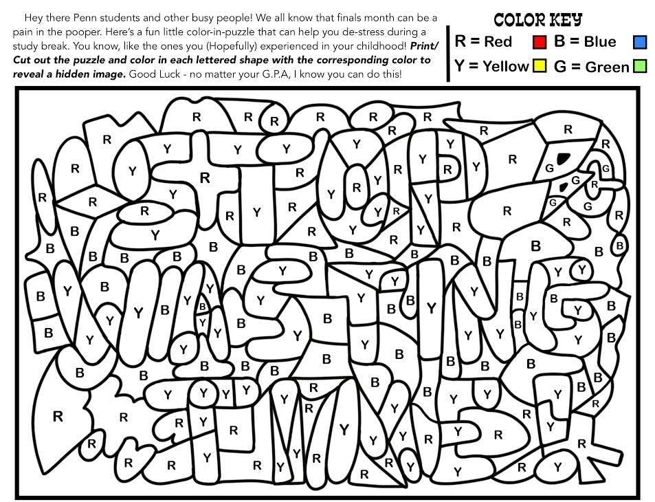 Ben Claar Wholesome coloring activity The Daily Pennsylvanian