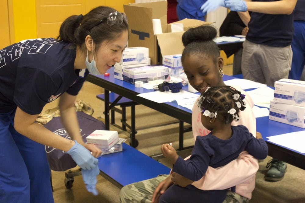 Penn nursing and graduate students provided free health services to West Philadelphia residents. (File Photo)
