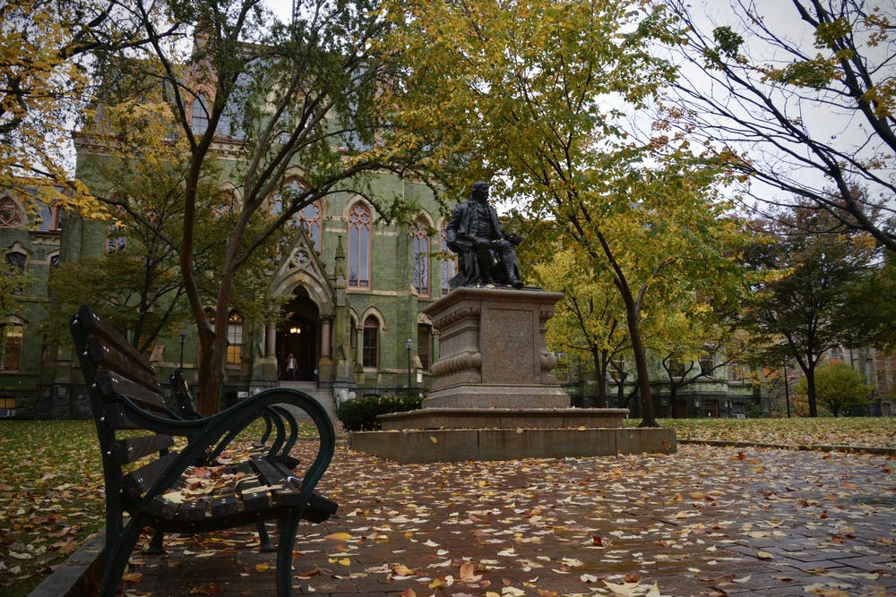 fall-college-hall-benjamin-franklin