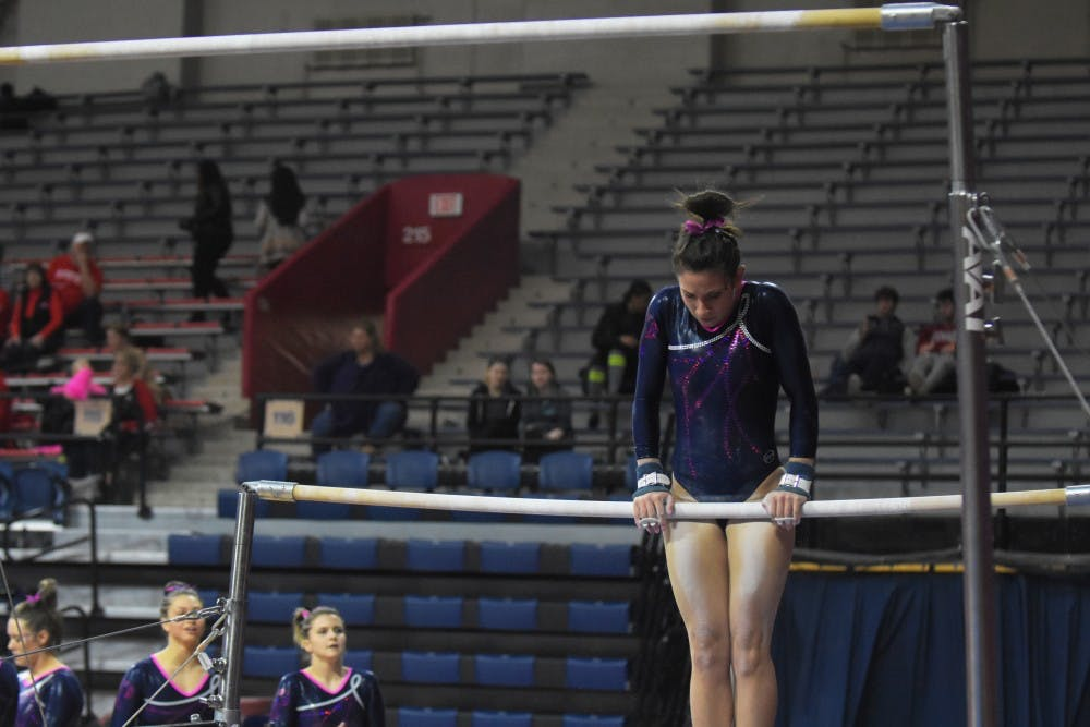 Penn gymnastics junior captain Kyra Levi was pleased with her team's floor performance of 48.650, a number they've been able to consistently hit all season long.