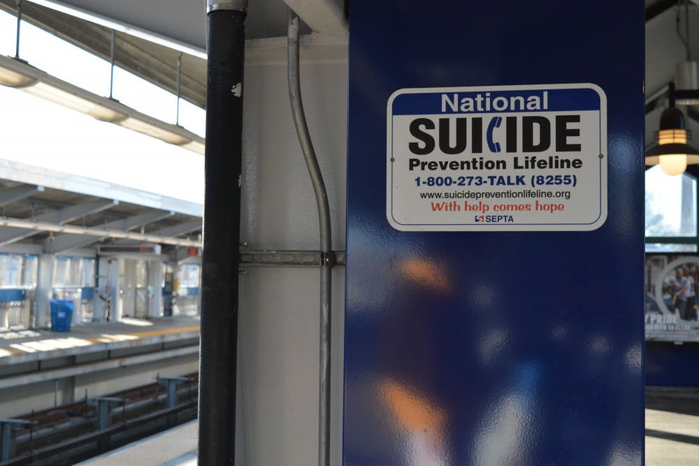 SEPTA currently displays 1,000 signs with suicide prevention information at its stations.