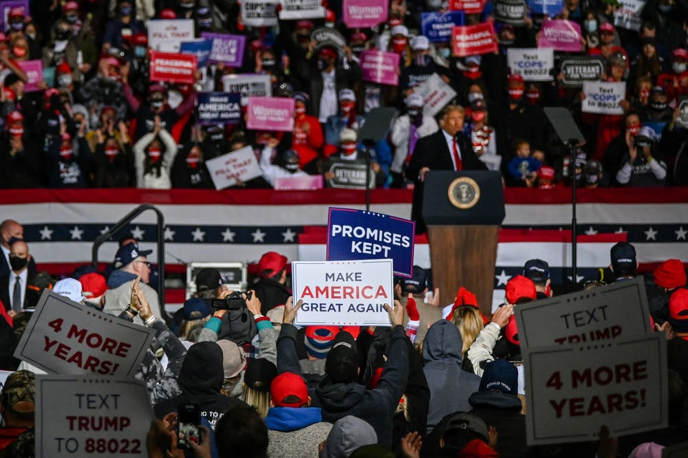 Photo Essay | Packed crowds, masks optional: Inside a Trump Pa. rally amid COVID-19
