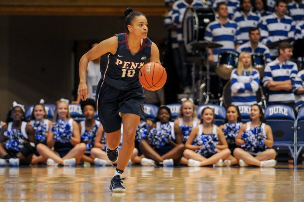 brand new 1c0dc 94b52 Penn women's basketball cruises past Harvard in a 63-43 win ...