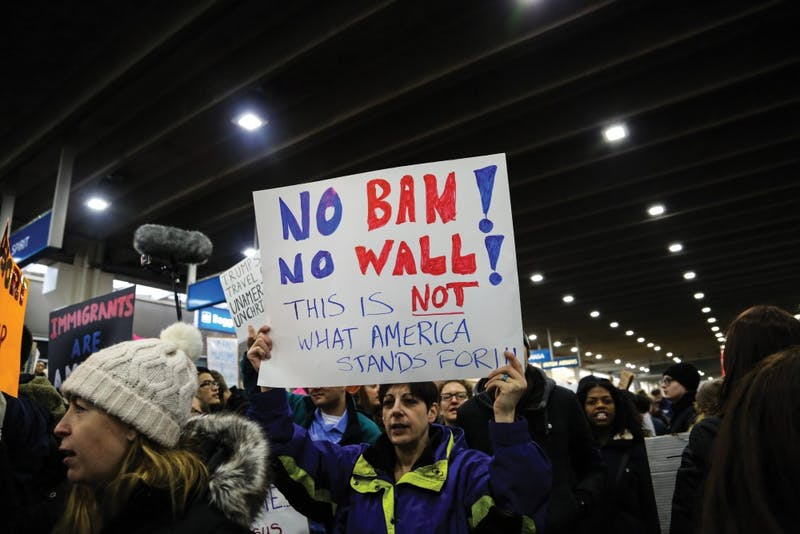 Philadelphia citizens protest Trump's immigration ban