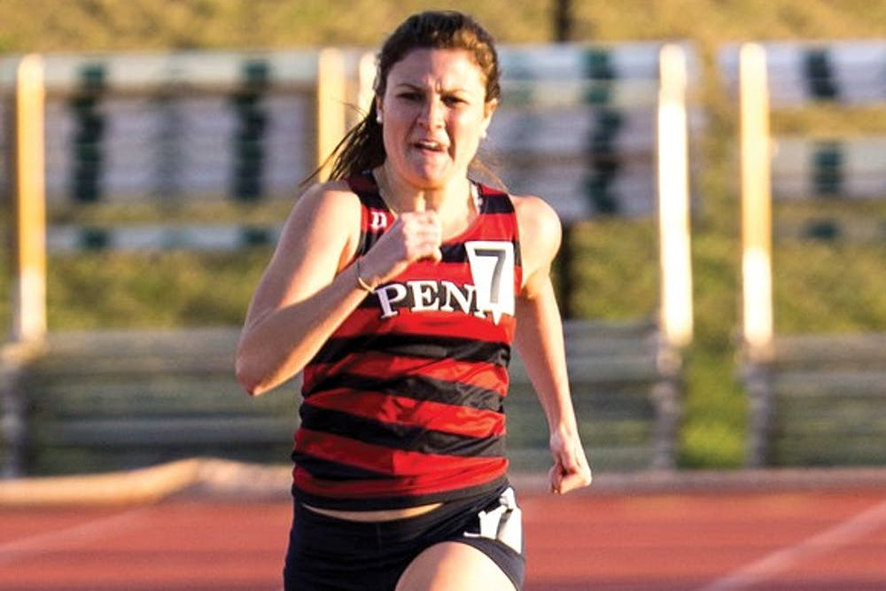 Though sophomore Ashley Montgomery specializes in the mile, she will anchor Penn's talented 4x800-meter relay on Saturday in the championship final.