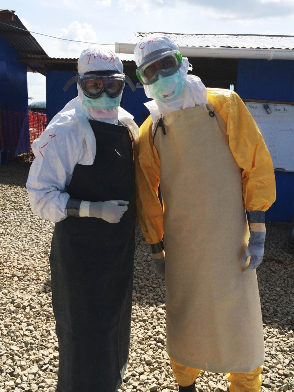 On the left is Doctor Trish Henwood, the newly appointed Director of Global Health Initiatives in Emergency Medicine at HUP.