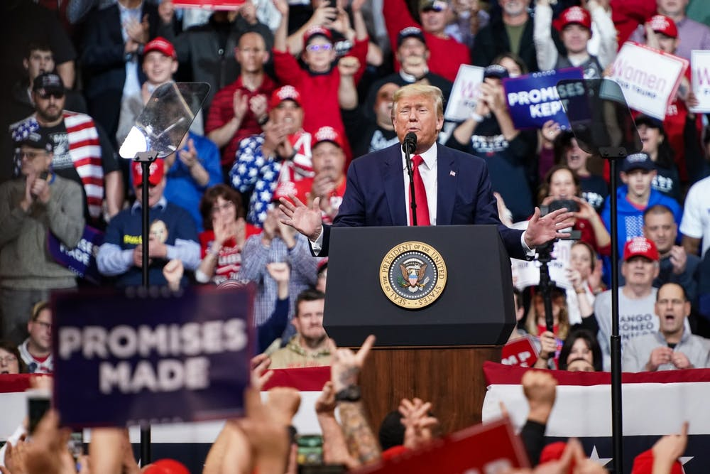 president-donald-trump-new-hampshire-rally-february-10-2020-promises-made