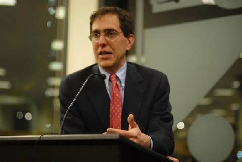 In November 2007, Christopher Eisgruber, then-Princeton University provost, discussed 'The Next Justice,' his new book about the selection process in the American judicial system, at the Penn Bookstore.