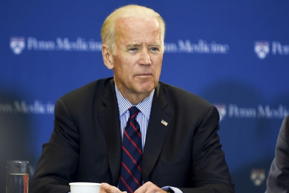 Former Vice President Joe Biden, pictured here, began his