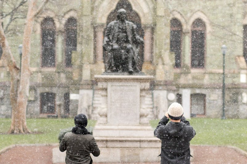 Penn's First Snow Day of 2016