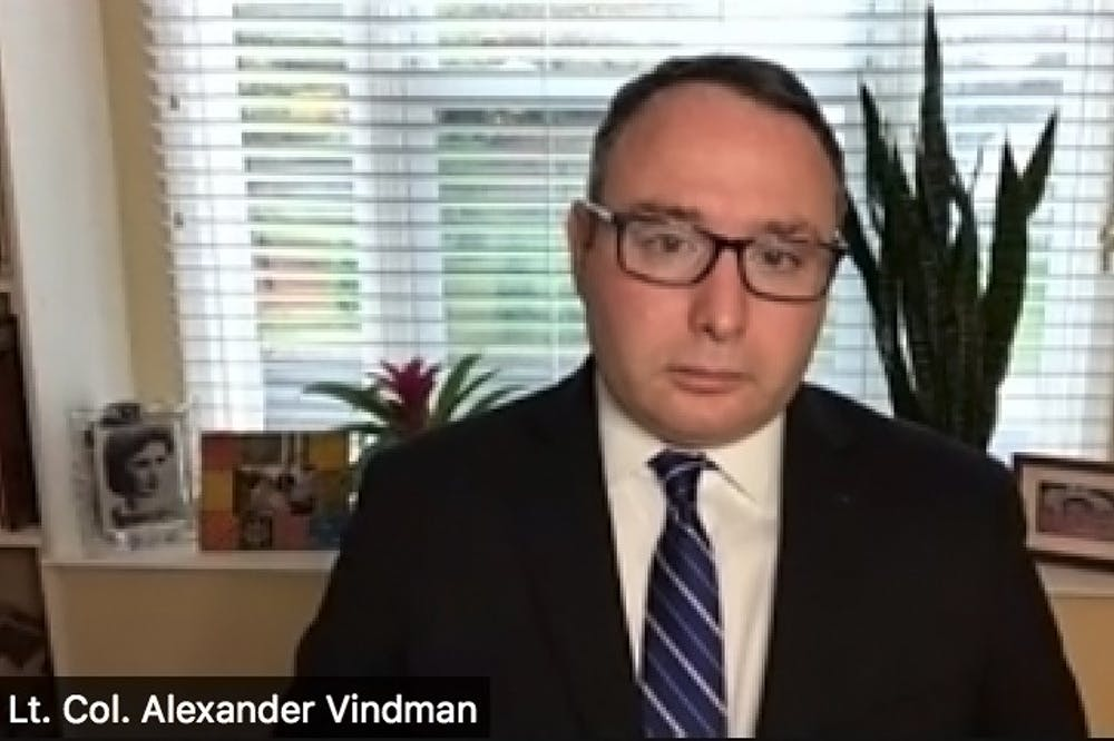 PWH fellow, impeachment witness Alexander Vindman fears Trump will target him if reelected