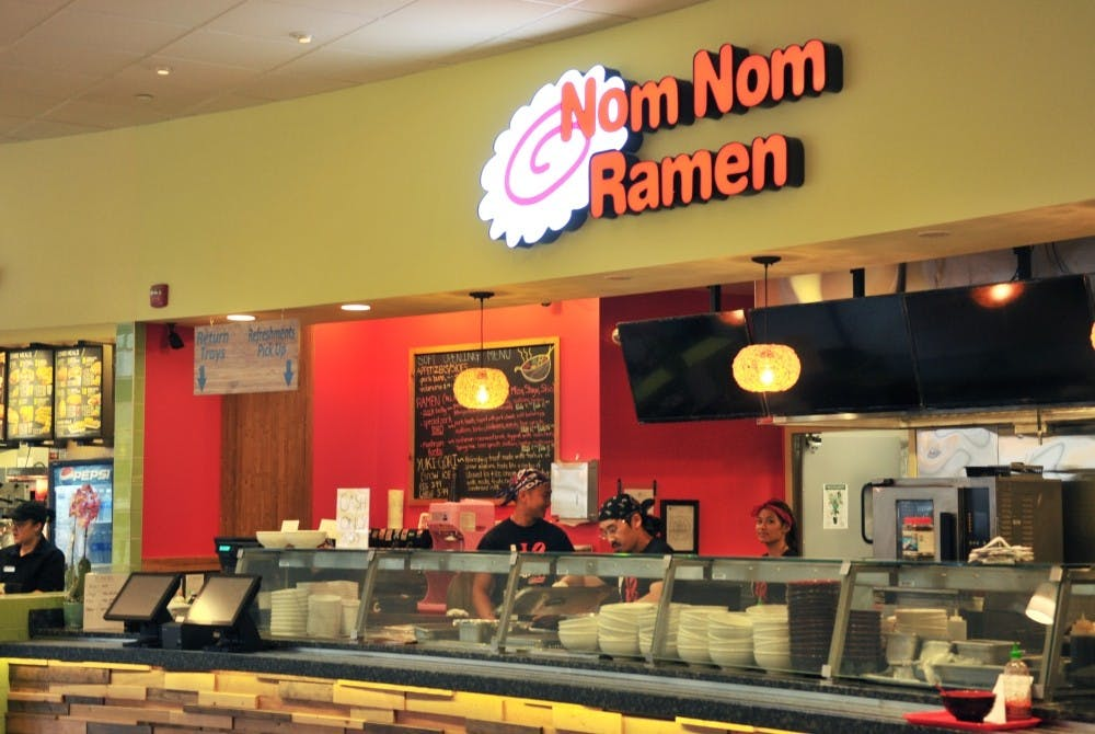 Nom Nom Ramen, pictured above, is one of six campus eateries that will close by the end of June. These closures add to at least five other local businesses that have been shut down in the past year.