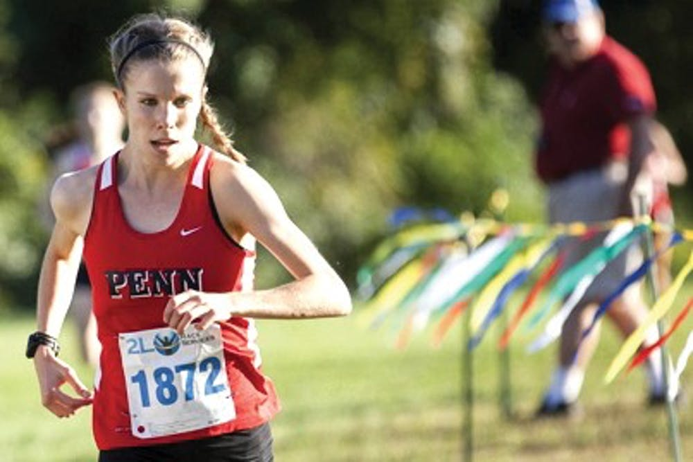 Sophomore Cleo Whiting figures to be a key part of Penn's distance running squad this outdoor season.
