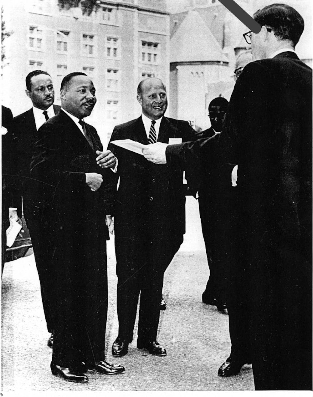 """In May 1965,Martin Luther King Jr. returned to Penn's campus to speak at multiple panel discussions during the University's annual """"Law Day U.S.A."""""""