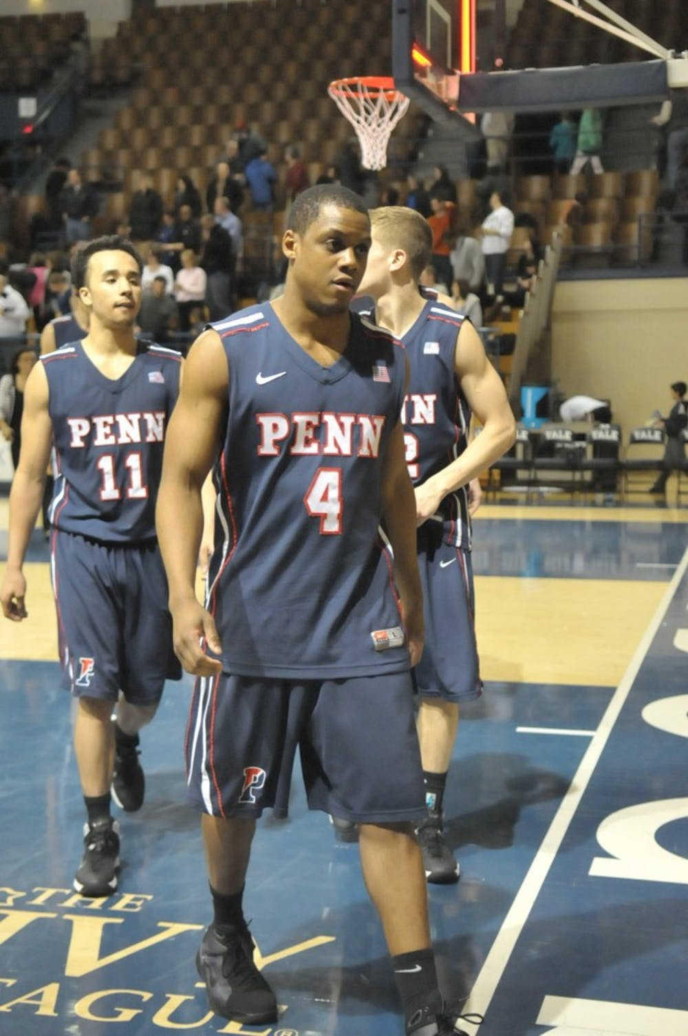 Penn guard Jamal Lewis, like the rest of his teammates, was stunned after Penn's blowout loss to Yale on Friday night.