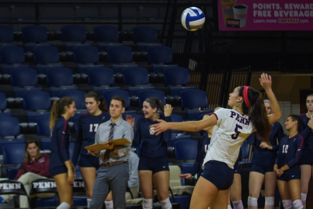 Junior libero Michelle Pereira has been the Quakers' best defensive player thus far, leading the team with 348 digs. Her efforts have helped the Red and Blue to lead the Ivy League in digs.