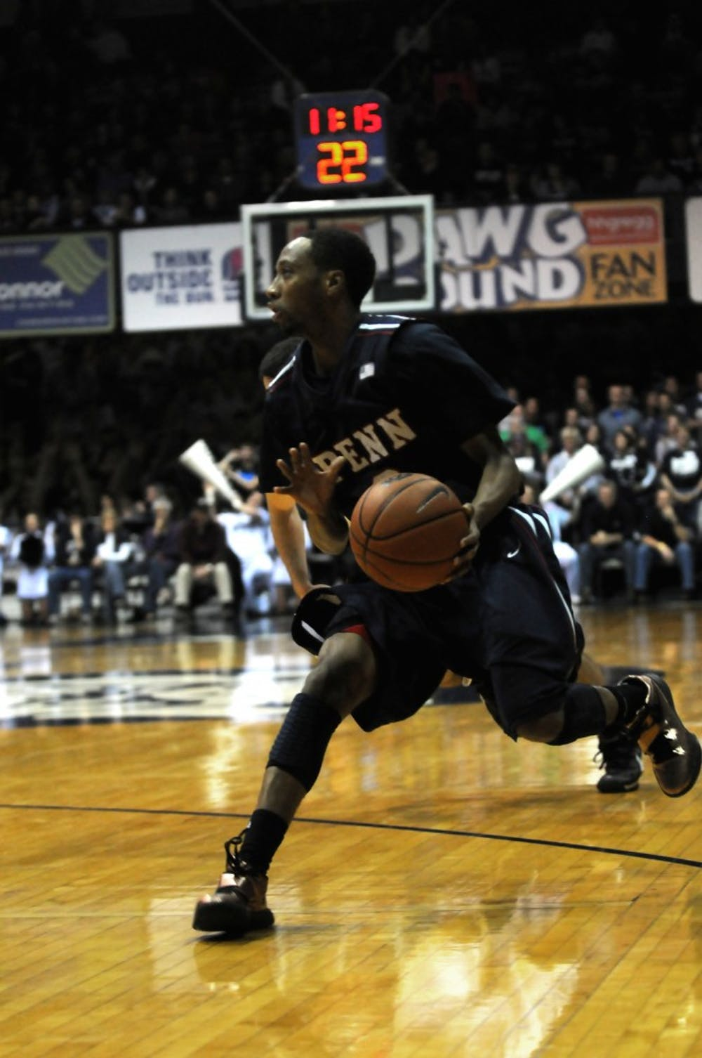 Penn fell to No. 17 Butler, 70-57, at the Hinkle Fieldhouse in Indianapolis.