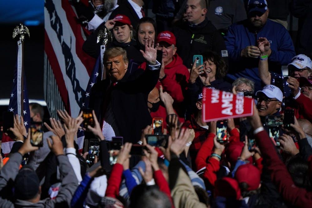 donald-trump-johnstown-pennsylvania-rally-wave-goodbye-october-13-2020
