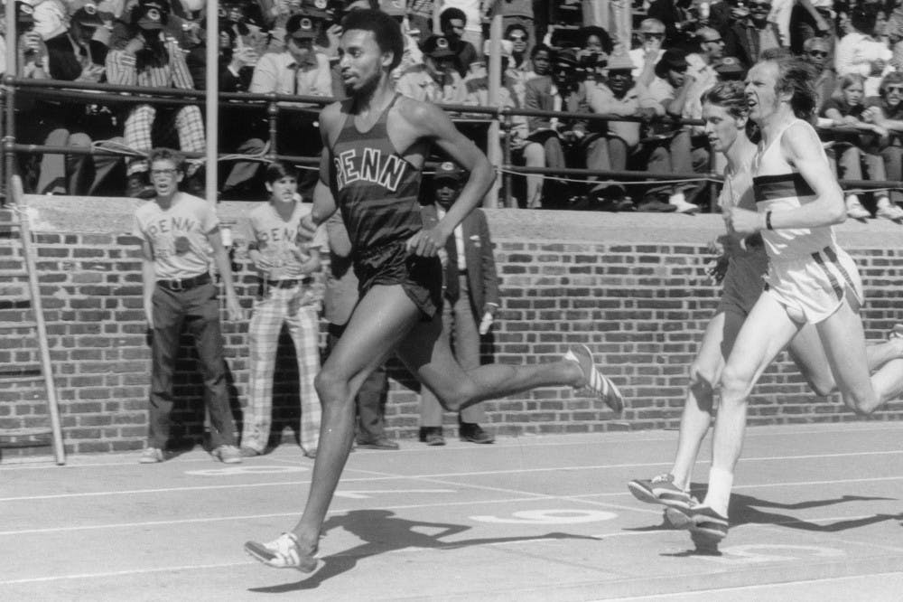 Before becoming Penn's Athletic Compliance officer, Elton Cochran-Fikes set numerous records for Penn trackfrom 1970-74.