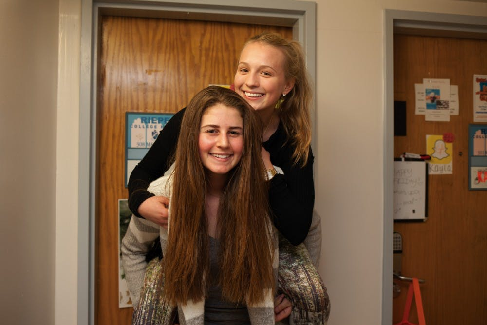 College Freshman Elyse Kochman Says She Gets Along With Her Roommate Nursing Monica Aber Despite How Different They Are